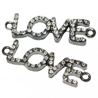 LOVE -antracit, 37x10x3mm